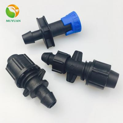 16mm Plastic Drip Irrigation fittings for Irrigation Drip Tape